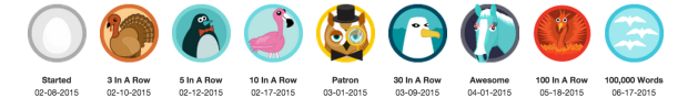 750 words badges