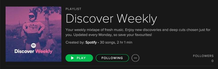 spotify discover weekly week 2