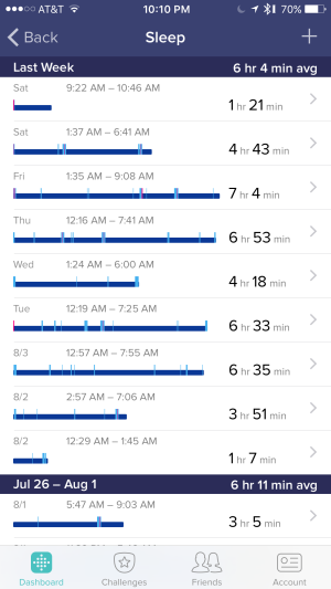 fitbit sleep tracker 1