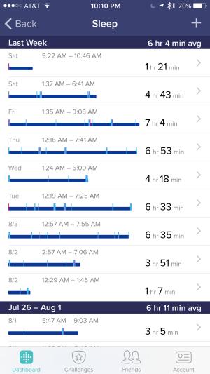 fitbit sleep tracker 1