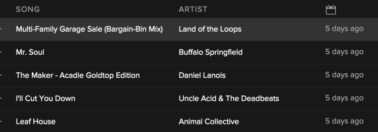 spotify discover weekly 1