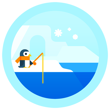 penguin march badge
